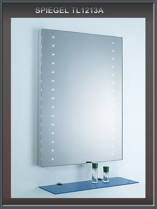 lux aqua spiegel led beleuchtung touch schalter 1213a ebay. Black Bedroom Furniture Sets. Home Design Ideas