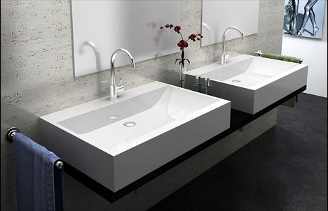 lux aqua design luxus waschtisch guss marmor waschbecken zur wandmontage 6912 ebay. Black Bedroom Furniture Sets. Home Design Ideas