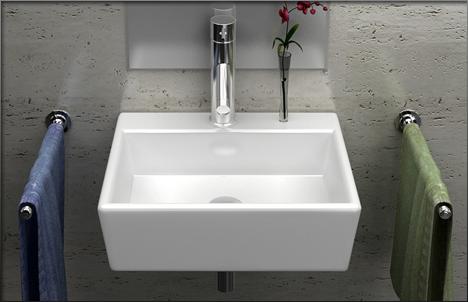 details zu lux aqua g ste wc kleines waschbecken zur wandmontage 4549. Black Bedroom Furniture Sets. Home Design Ideas