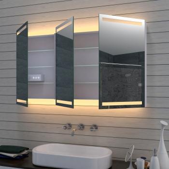 Aluminium LED Beleuchtung Badezimmer Spiegelschrank dimmbar MLA1270-D1
