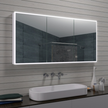neu alu badezimmer spiegelschrank badschrank kosmetikspiegel mla1470 r