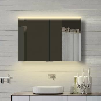 www.lux-aqua.de - Lux-aqua Aluminium badezimmer Spiegelschrank mit ...