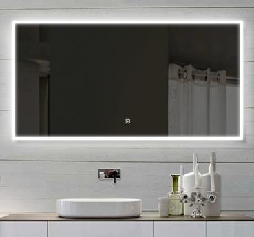 lux aqua badzimmerspiegel led mit beleuchtung touch schalter 140x60cm sam140x60. Black Bedroom Furniture Sets. Home Design Ideas