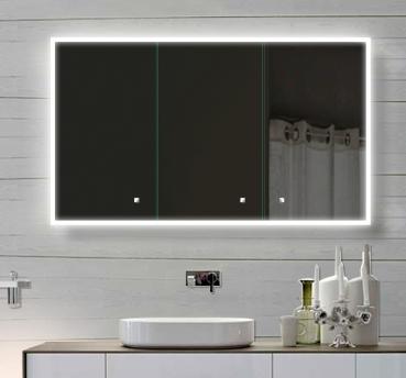 Www.Lux-Aqua.De - Alu Badschrank Badezimmer Spiegelschrank Bad Led