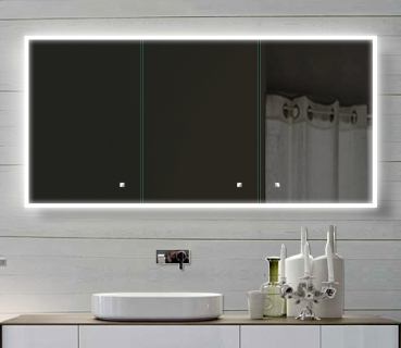 alu badschrank badezimmer spiegelschrank bad led beleuchtung 140x70cm sac140h70. Black Bedroom Furniture Sets. Home Design Ideas