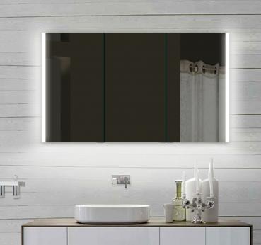 www.lux-aqua.de - Design Spiegelschrank mit Alu-Rahmen Badspiegel ...