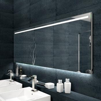www.lux-aqua.de - Badezimmerspiegel Alu-Rahmen LED Beleuchtung ...