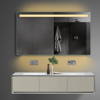 Www.Lux-Aqua.De - Design Badezimmerspiegel Led Beleuchtung In Warm