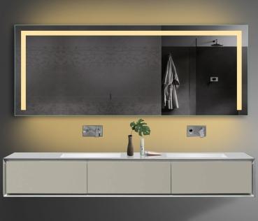 www.lux-aqua.de - Design Badezimmerspiegel Led Beleuchtung in Warm ...
