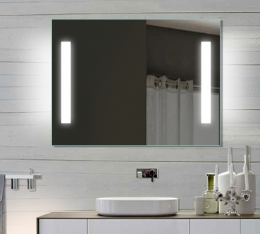 Design LED Badezimmerspiegel Badspiegel Wandspiegel Lichtspiegel 80x60  SPE8060H
