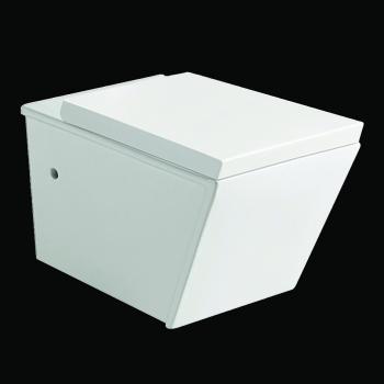 www.lux-aqua.de - Toilette Wand Hänge WC Eckig inkl Nano ...