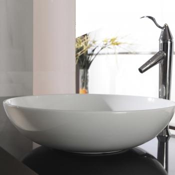 www.lux-aqua.de - NEU Design extra dünner Keramik Waschtisch ...
