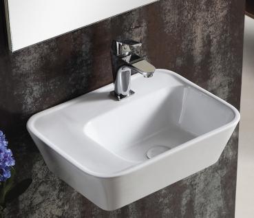 lux aqua keramik waschtisch waschbecken handwaschbecken zur wandmontage 40195c. Black Bedroom Furniture Sets. Home Design Ideas