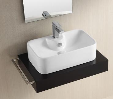 lux aqua keramik waschtisch waschbecken aufsatzbecken 49x30cm 4133. Black Bedroom Furniture Sets. Home Design Ideas