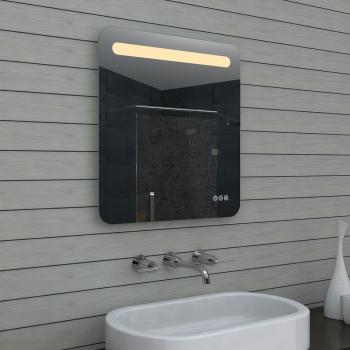 Badezimmerspiegel badspiegel LED Multifunktions-Touchschalter 60x65cm  MLF60X65