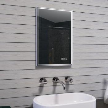 lux aqua design badspiegel mit rahmen aus geb rstetem aluminium 40x60cm mau17 40. Black Bedroom Furniture Sets. Home Design Ideas