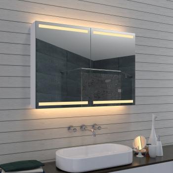 Aluminium LED Beleuchtung Badezimmer Spiegelschrank MLA1070-D1