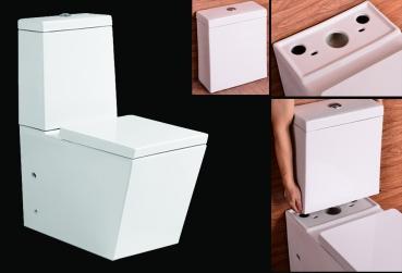 lux aqua stand wc toilette mit sp lkasten nano beschichtung softclose b2389a. Black Bedroom Furniture Sets. Home Design Ideas