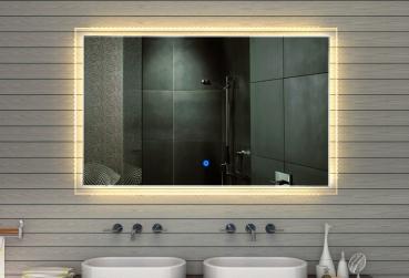 spiegel led touch schalter lichtfarbton kalt warm einstellbar 165x105cm mf91165. Black Bedroom Furniture Sets. Home Design Ideas