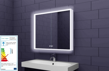 Badezimmer spiegelschrank  www.lux-aqua.de - Alu Badschrank badezimmer spiegelschrank bad LED ...