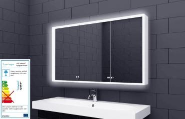 Alu Badschrank Badezimmer Spiegelschrank Bad LED Beleuchtung 120x70cm  SAC120H70