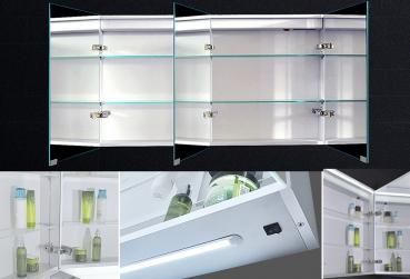 www.lux-aqua.de - Design Spiegelschrank mit Alu-Rahmen Badspiegel ... | {Design spiegelschrank 76}