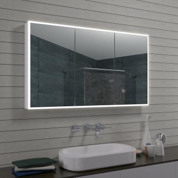 Aluminium LED Beleuchtung Badezimmer Spiegelschrank mit Schminkspiegel  MLA1270-R