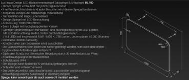 design led badezimmerspiegel badspiegel lichtspiegel wandspiegel 100x60 cm ml100. Black Bedroom Furniture Sets. Home Design Ideas