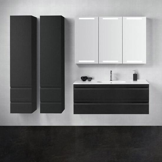 Schwarze Badmöbel - Design