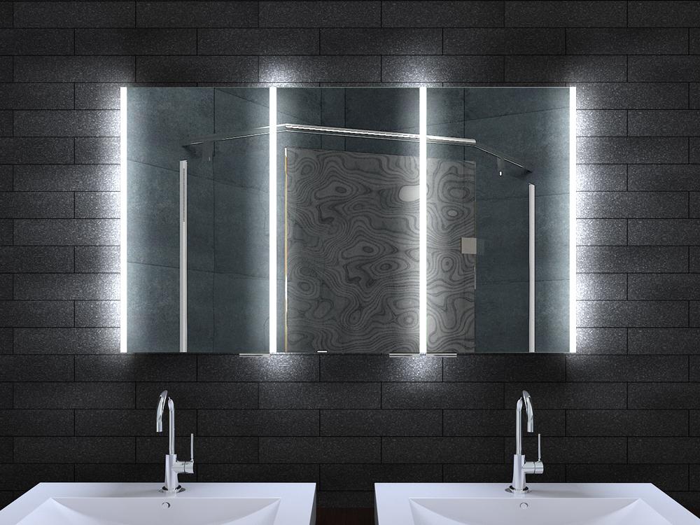 alu badschrank badezimmer spiegelschrank bad led beleuchtung 120x70cm mla12700. Black Bedroom Furniture Sets. Home Design Ideas