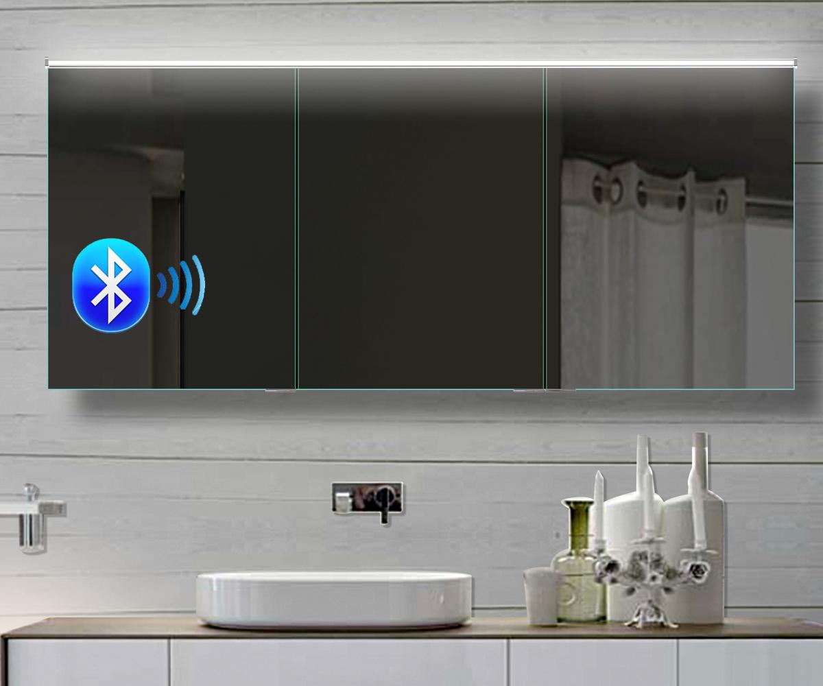www.lux-aqua.de - Alu Badezimmer spiegelschrank LED und Bluetooth ...