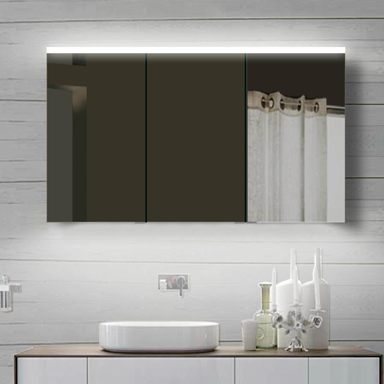 Design spiegelschrank mit alu rahmen for Design spiegelschrank