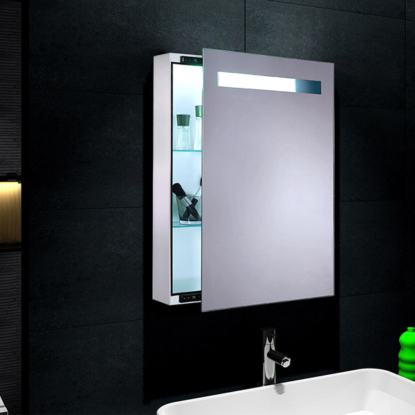 www.lux-aqua.de - Design Spiegelschrank mit LED Beleuchtung 45x70cm ...