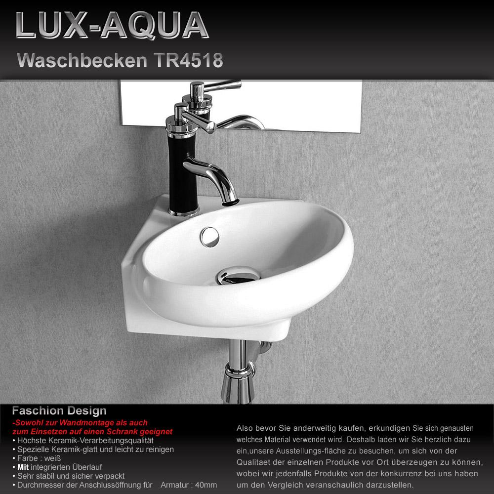 www.lux-aqua.de - waschbecken zur wandmontage 4518