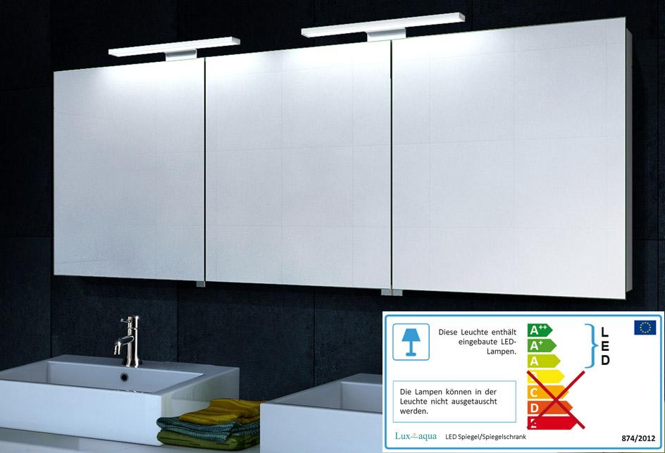 aluminium beleuchtung spiegelschrank 160x60cm mc1600. Black Bedroom Furniture Sets. Home Design Ideas