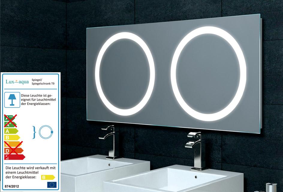 Spiegel Für Doppelwaschtisch Mit Beleuchtung 120x55cm MF5120