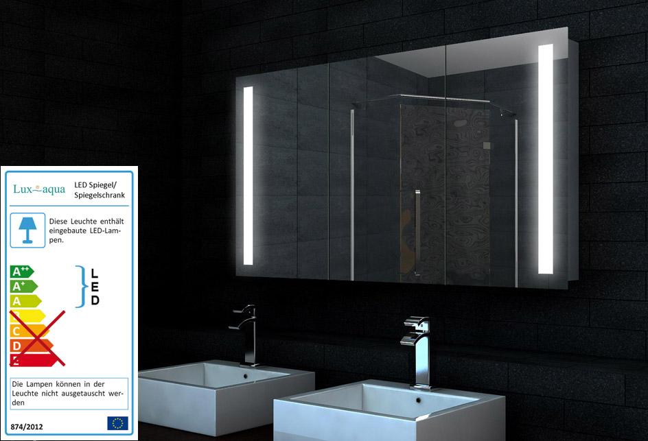 Www.Lux-Aqua.De - Design Alu Badezimmer Spiegel Schrank Led