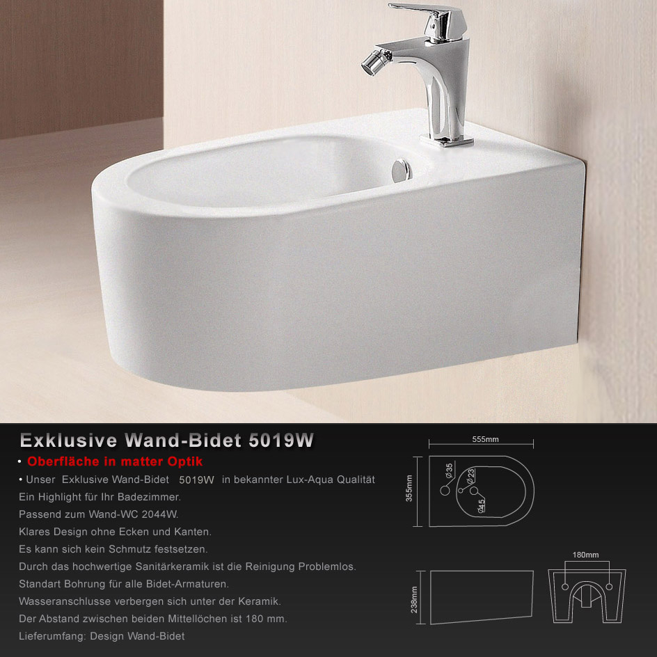 wandh ngend bidet matter optik mode 2012 neu 5019w. Black Bedroom Furniture Sets. Home Design Ideas