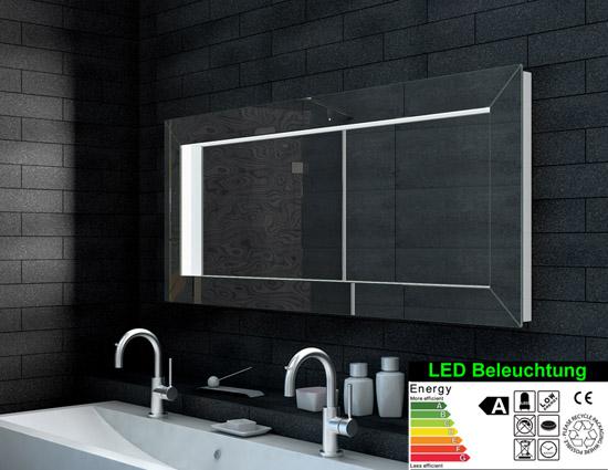 optik ideal badezimmer flur kleiderspiegel 140cm lma140x60. Black Bedroom Furniture Sets. Home Design Ideas