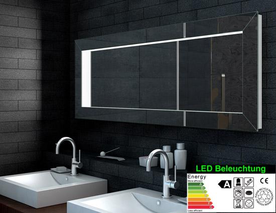 optik ideal badezimmer flur kleiderspiegel 160cm lma160x60. Black Bedroom Furniture Sets. Home Design Ideas