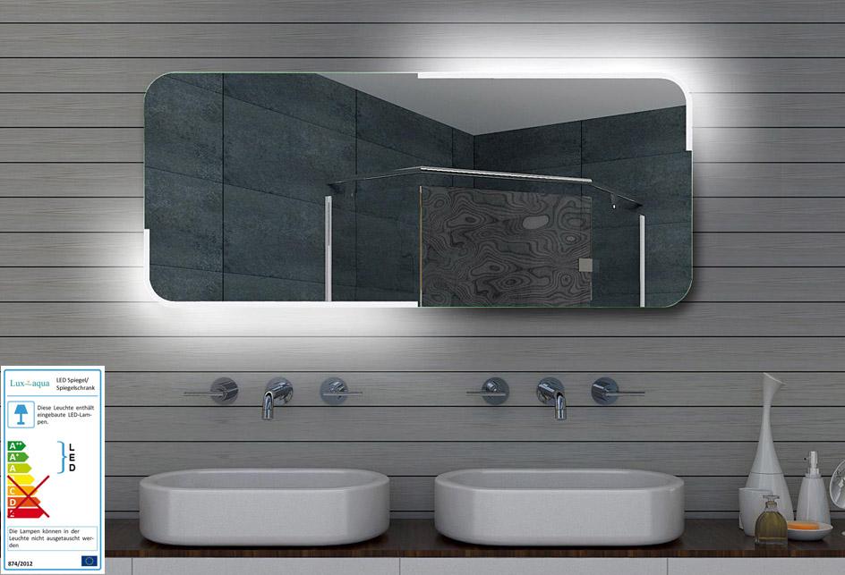 design led badezimmerspiegel badspiegel lichtspiegel wandspiegel 140x60 cm ml140. Black Bedroom Furniture Sets. Home Design Ideas