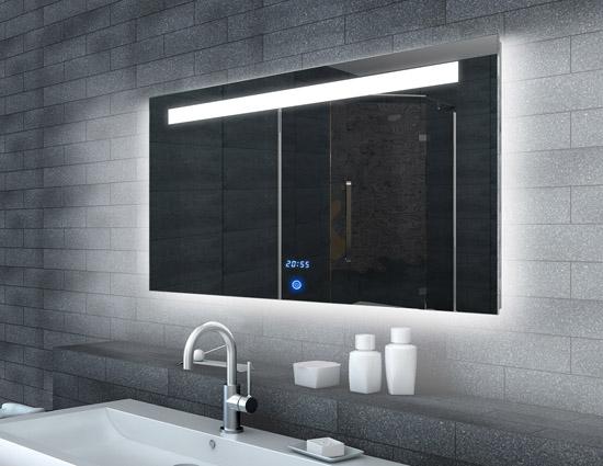 Www Lux Aqua De Lichtspiegel Led Beleuchtung Uhr Touch Schalter
