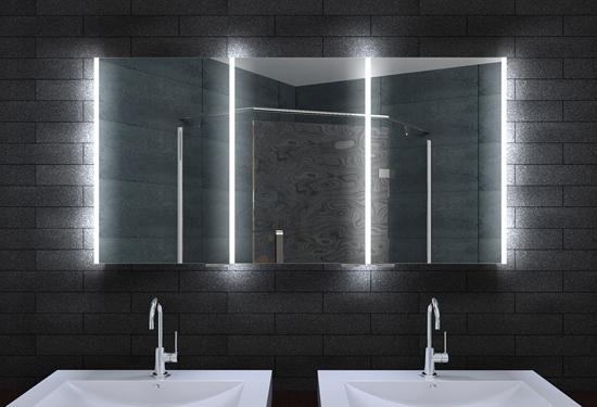alu badschrank badezimmer spiegelschrank bad led beleuchtung 140x70cm mla14700. Black Bedroom Furniture Sets. Home Design Ideas