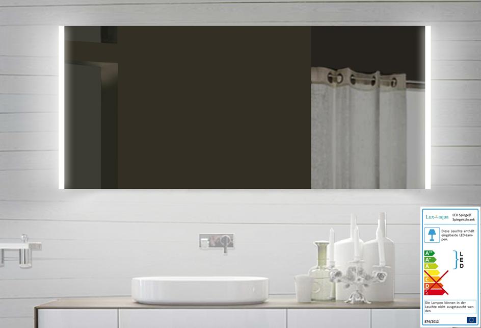 lux aqua design led badezimmerspiegel badspiegel lichtspiegel 140cm sps140x60. Black Bedroom Furniture Sets. Home Design Ideas