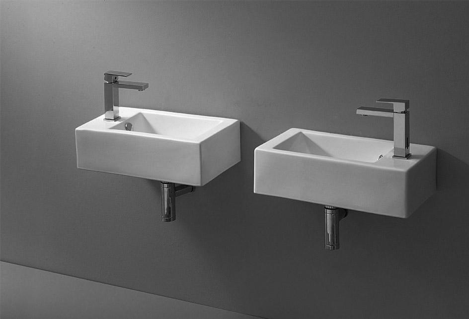 Lux-aqua Gäste-WC Waschbecken Wandmontage Waschschale ...