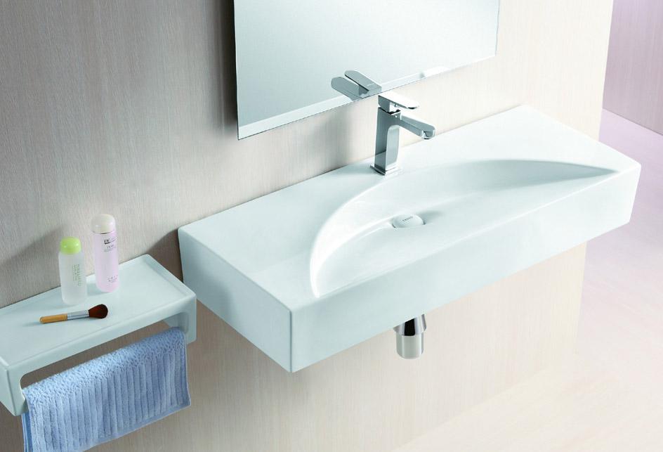 lux aqua waschtisch waschbecken keramik handwaschbecken zur wandmontage 4426a ebay. Black Bedroom Furniture Sets. Home Design Ideas