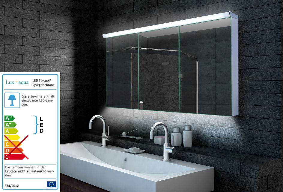 Badezimmer Wand Hänge Spiegelschrank Spiegel LED Beleuchtung ...