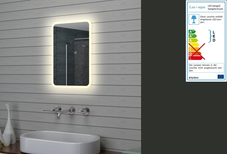 Badezimmerspiegel Klein.Www Lux Aqua De Led Beleuchtung Warmlicht Badezimmerspiegel M1546 40x60cm
