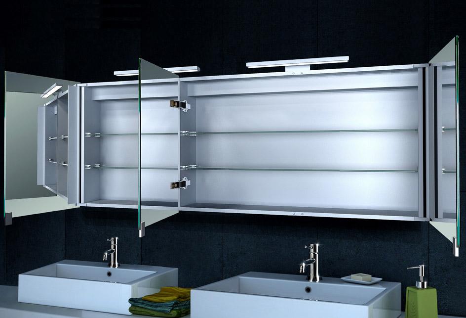 lux aqua alu badezimmer spiegelschrank bad led beleuchtung xxxl160x60cm mc1600 ebay. Black Bedroom Furniture Sets. Home Design Ideas
