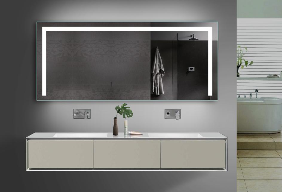 Badezimmerspiegel Led.Www Lux Aqua De Led Beleuchtung Kalt Warmweiss Badezimmerspiegel Mit Steckdose Tsl160 70